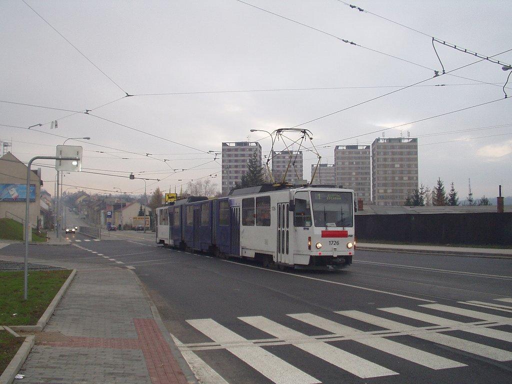 Fotogalerie » ČKD Tatra KT8D5SU 1726 | Brno | Medlánky | Kuřimská | Hudcova