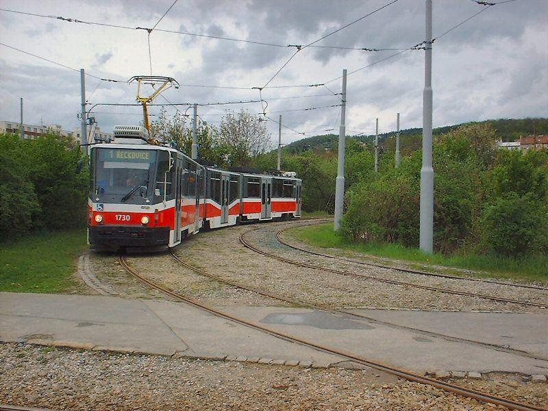 Fotogalerie » ČKD Tatra KT8D5N 1730 | Brno | Komín