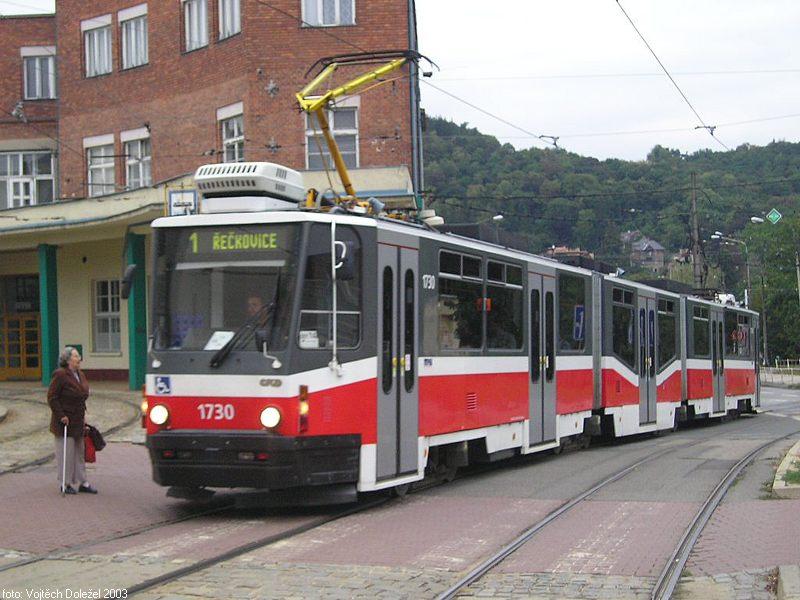 Fotogalerie » ČKD Tatra KT8D5N 1730 | Brno | Pisárky | Pisárky