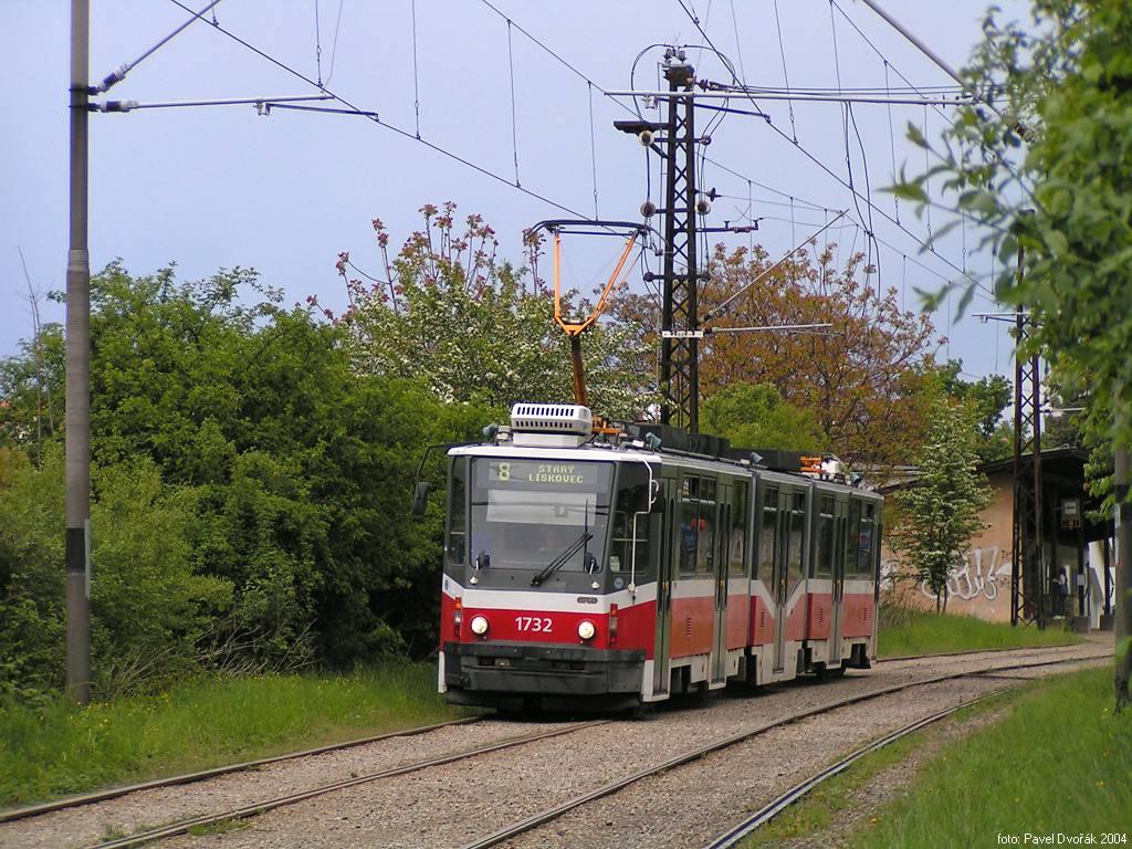 Fotogalerie » ČKD Tatra KT8D5N 1732   Brno   Stránská skála