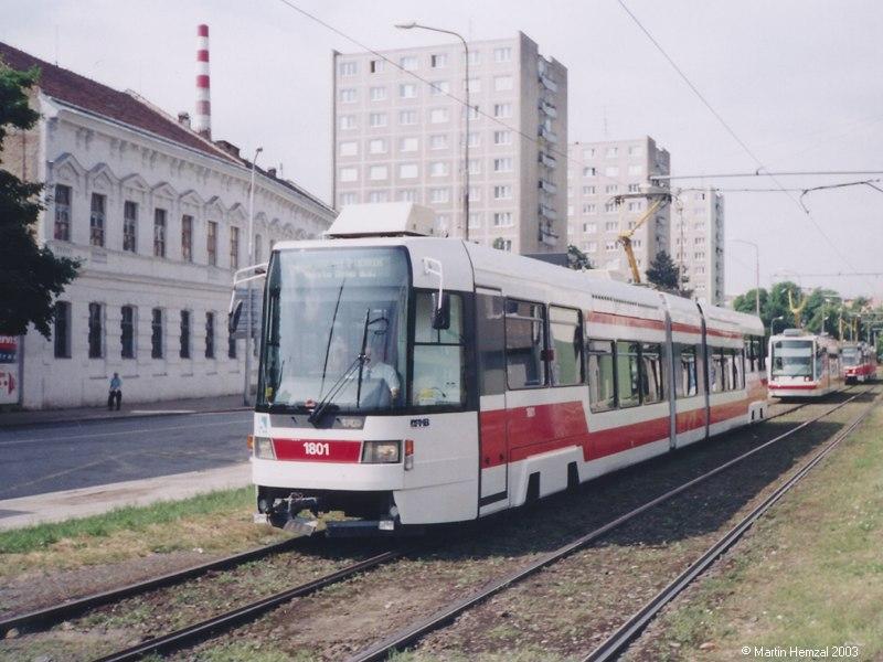 Fotogalerie » ČKD DS RT6N1 1801   Brno   Staré Brno   Veletržní