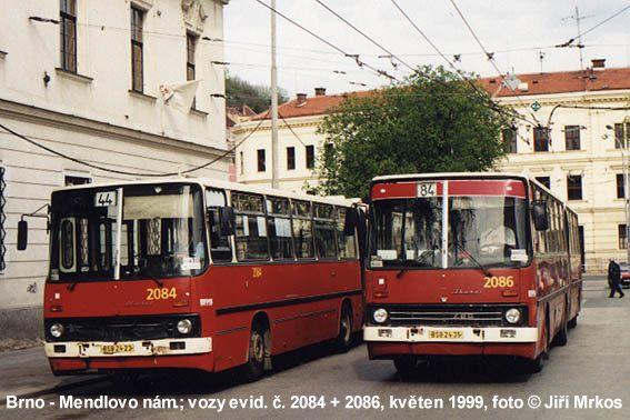 Fotogalerie » Ikarus 280.08 2084 | Ikarus 280.08 2086 | Brno | Staré Brno | Mendlovo náměstí