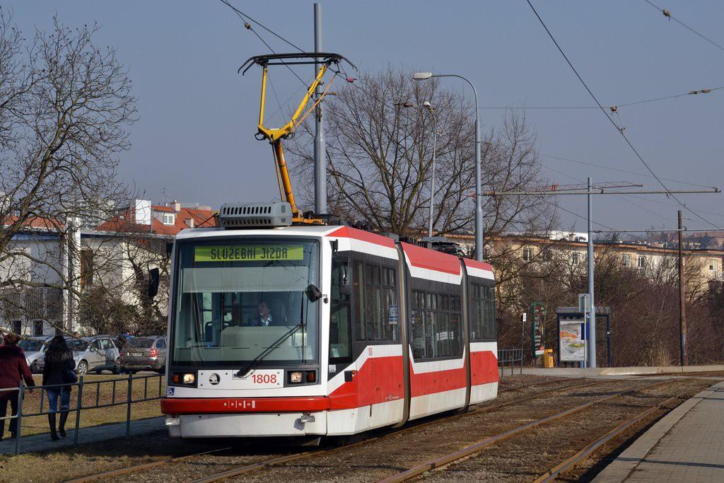 Fotogalerie » Škoda 03T6 1808   Brno   Žabovřesky   Kníničská   Stránského