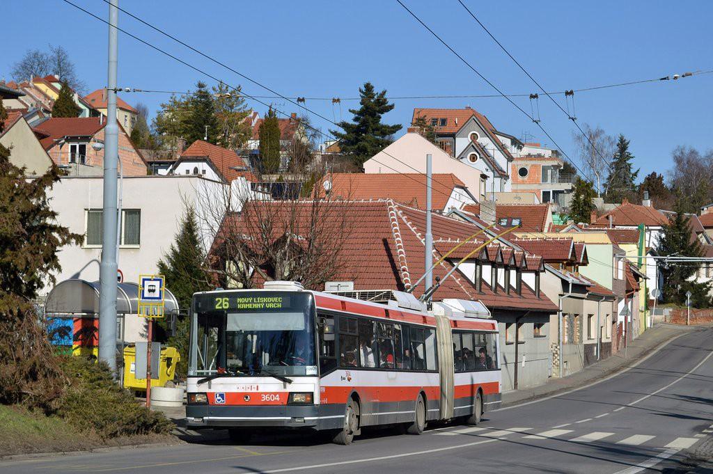 Fotogalerie » Škoda 22Tr 3604   Brno   Nový Lískovec   Rybnická   Kluchova