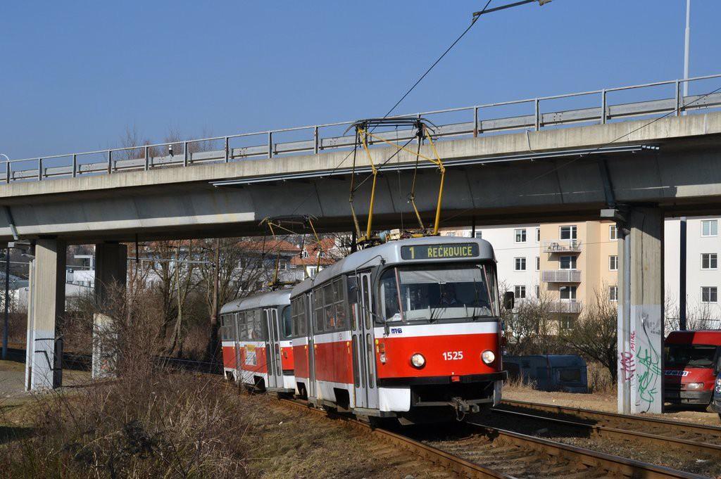 Fotogalerie » ČKD Tatra T3 1525 | ČKD Tatra T3 1528 | Brno | Žabovřesky