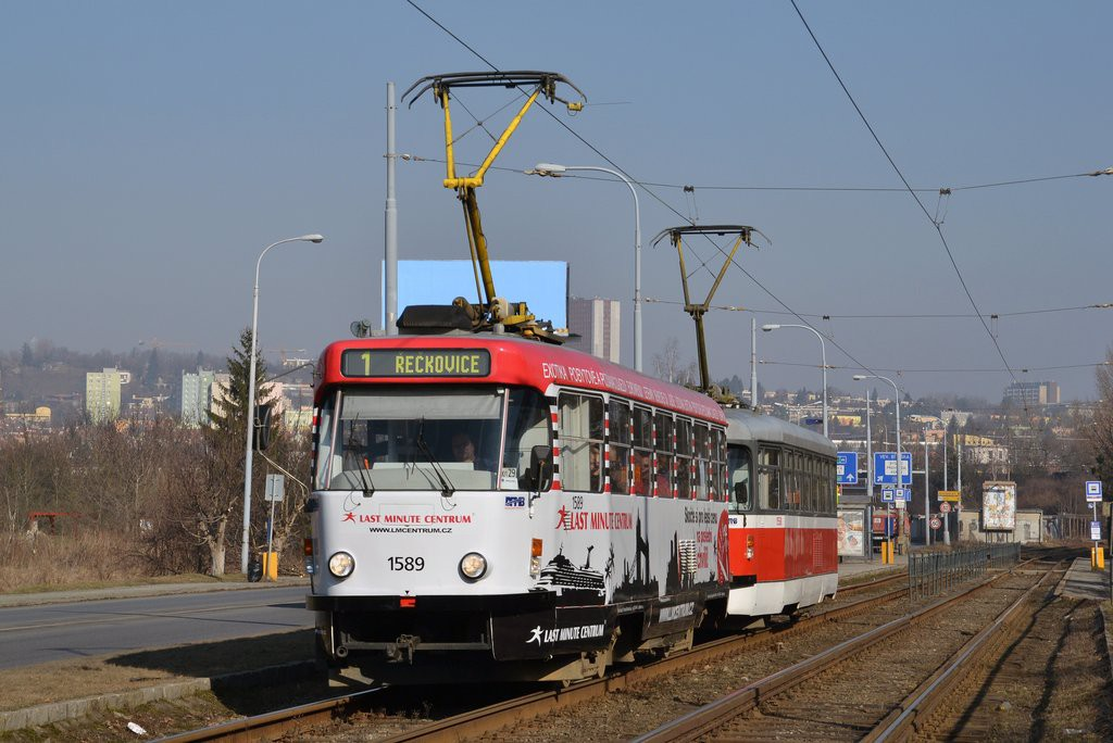 Fotogalerie » ČKD Tatra T3P 1589 | Pragoimex T3R.PV 1558 | Brno | Žabovřesky | Žabovřeská | Bráfova