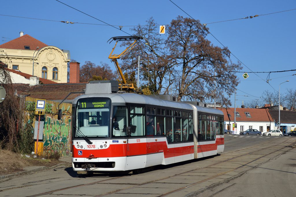 Fotogalerie » Pragoimex VarioLF2R.E 1078 | Brno | Žabovřesky | Sochorova | Rosického náměstí