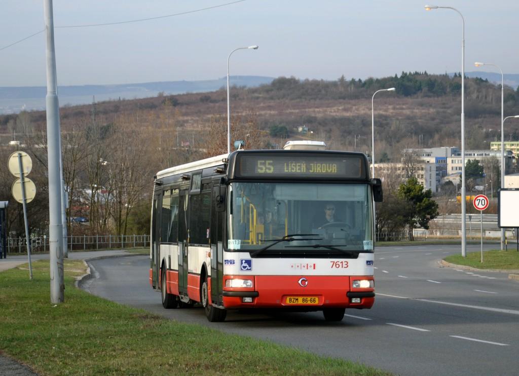 Fotogalerie » Irisbus Citybus 12M 2071.30 BZM 86-66 7613   Brno   Líšeň   Novolíšeňská   Bartákova