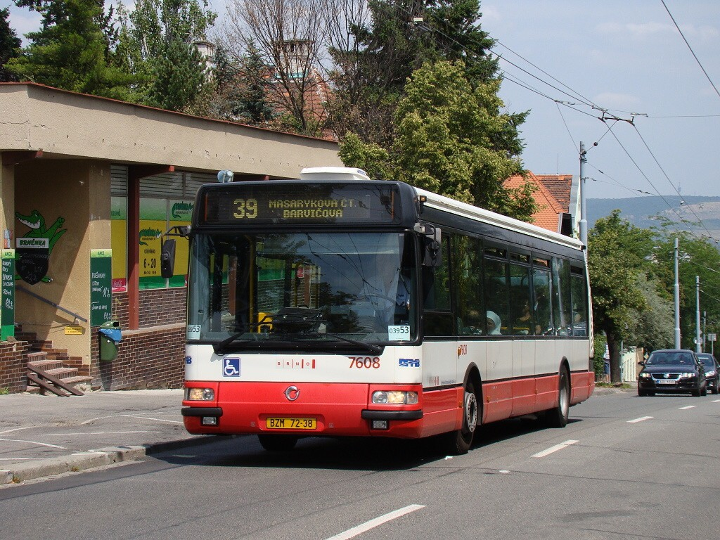 Fotogalerie » Irisbus Citybus 12M 2071.20 BZM 72-38 7608 | Brno | Masarykova čtvrť | Tvrdého
