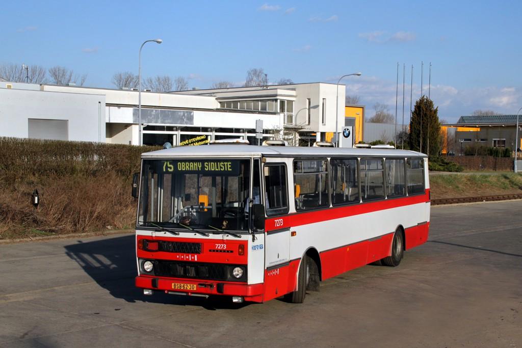Fotogalerie » Karosa B732.40 BSB 62-30 7273 | Brno | Slatina | Drážní | Slatina, nádraží