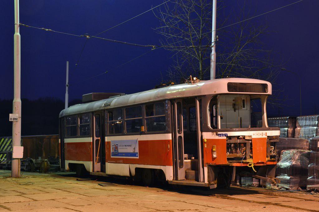 Fotogalerie » ČKD Tatra T3M 1535   Brno   vozovna Medlánky