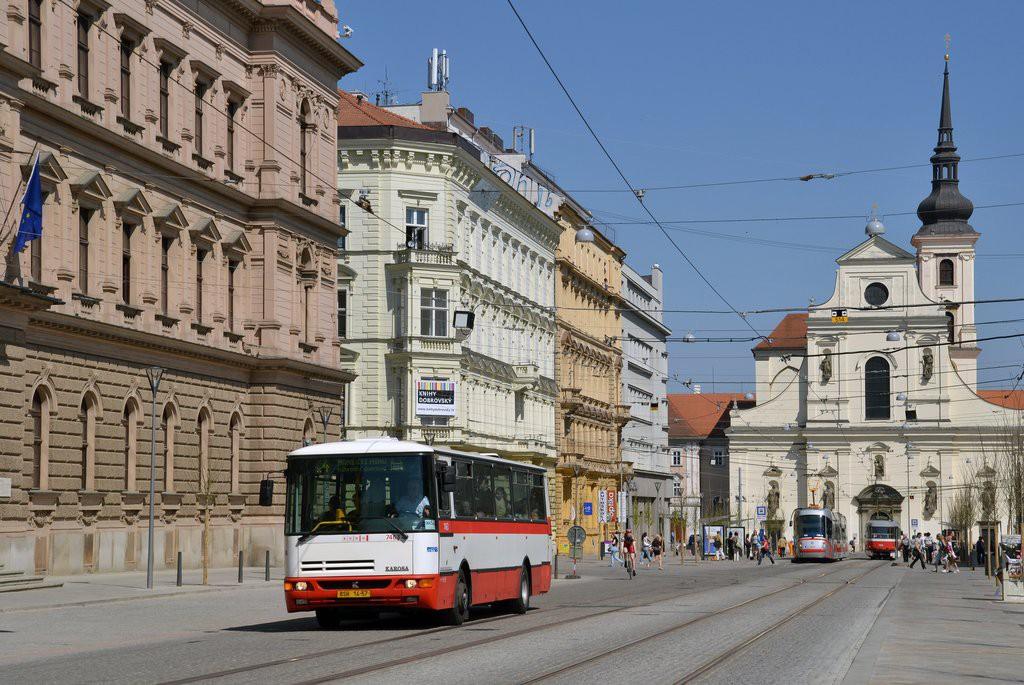 Fotogalerie » Karosa B931E.1707 BSH 14-57 7463 | Brno | střed | Joštova