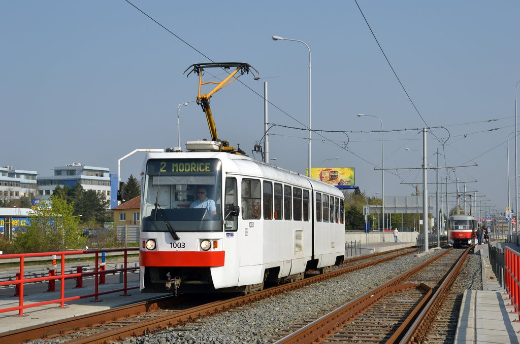 Fotogalerie » ČKD Tatra K2R 1003 | Brno | Dolní Heršpice | Vídeňská | Bohunická