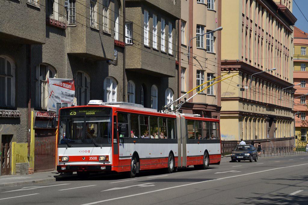 Fotogalerie » Škoda 15TrM 3508 | Brno | Veveří | Kotlářská | Konečného náměstí