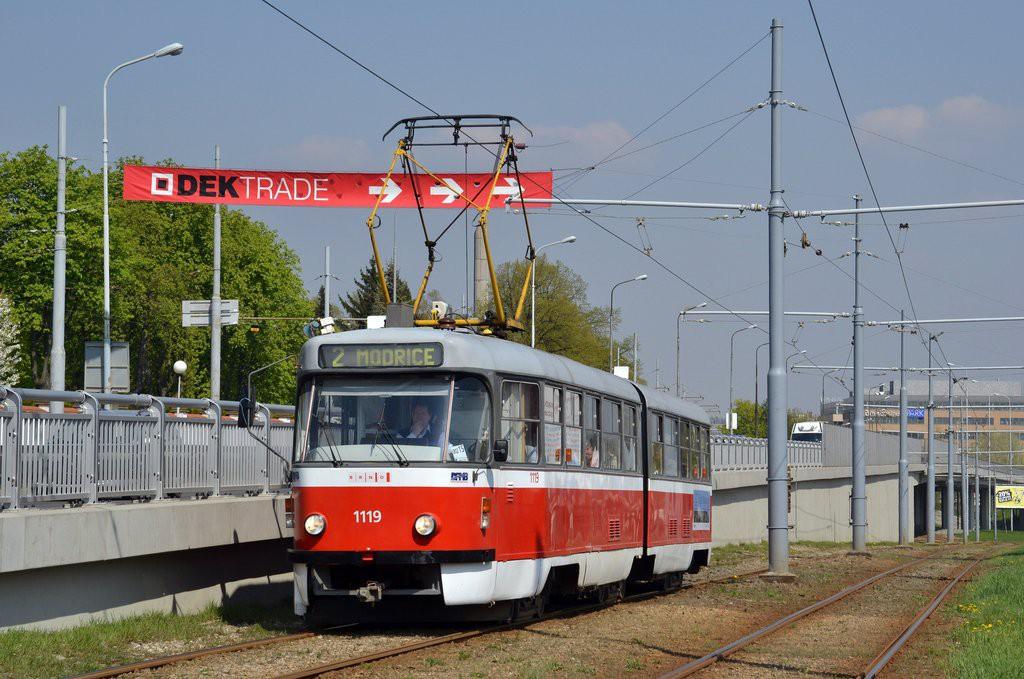 Fotogalerie » ČKD Tatra K2P 1119 | Brno | Horní Heršpice | Vídeňská
