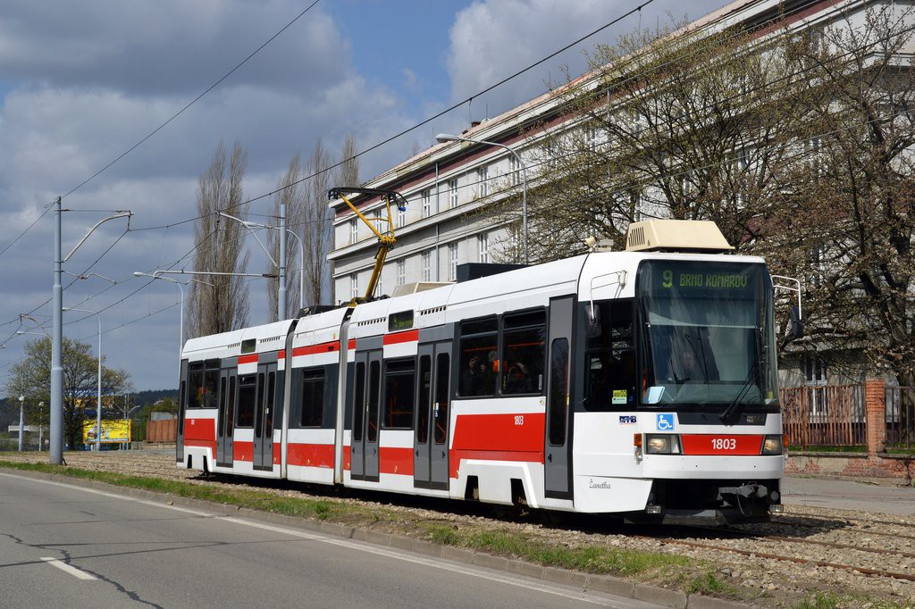 Fotogalerie » ČKD DS RT6N1 1803 | Brno | Černá Pole | třída Generála Píky