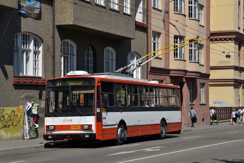 Fotogalerie » Škoda 14TrR 3220 | Brno | Veveří | Kotlářská | Konečného náměstí