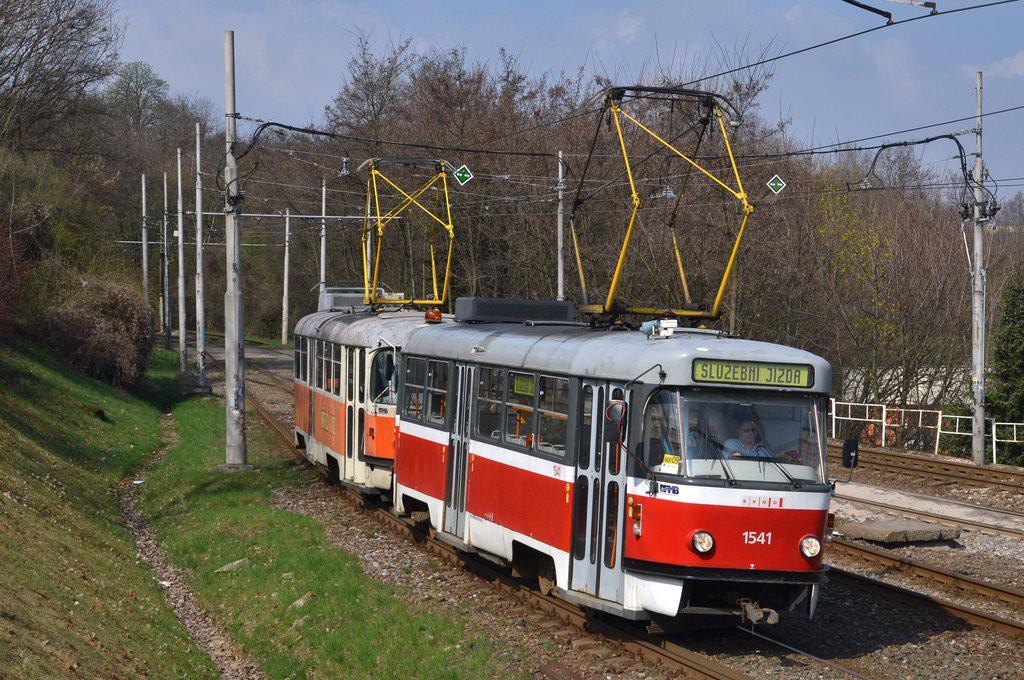 Fotogalerie » ČKD Tatra T3M 1541 | ČKD Tatra T3 služební 4123 | Brno | Štýřice