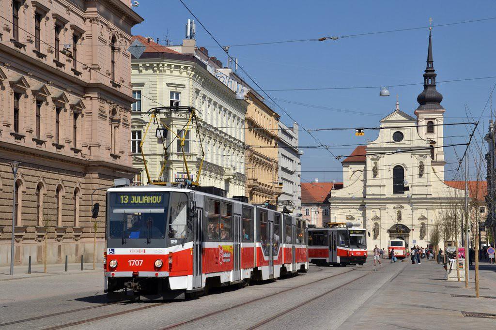 Fotogalerie » ČKD Tatra KT8D5R.N2 1707 | Brno | střed | Joštova