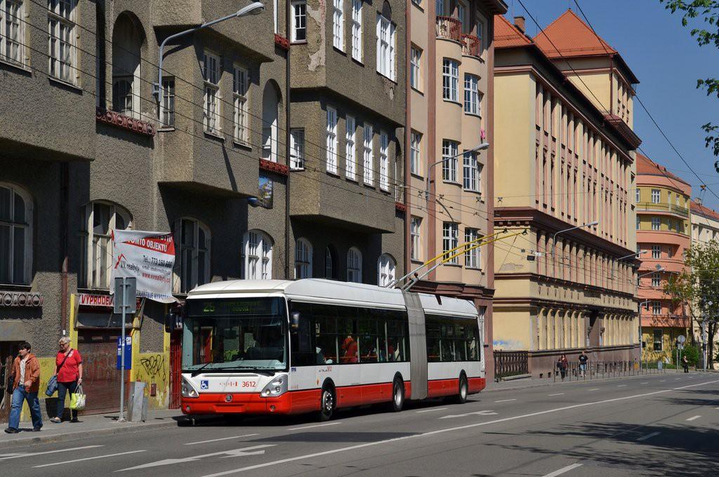 Fotogalerie » Škoda 25Tr Citelis 1B 3612   Brno   Veveří   Kotlářská   Konečného náměstí