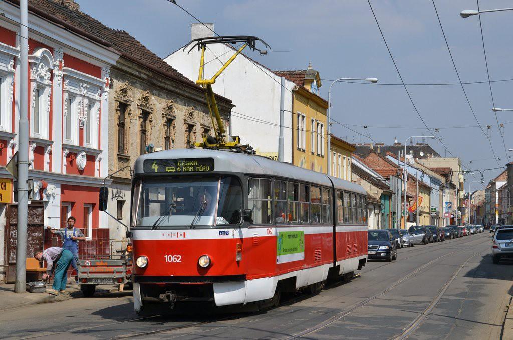 Fotogalerie » ČKD Tatra K2P 1062 | Brno | Husovice | Dukelská