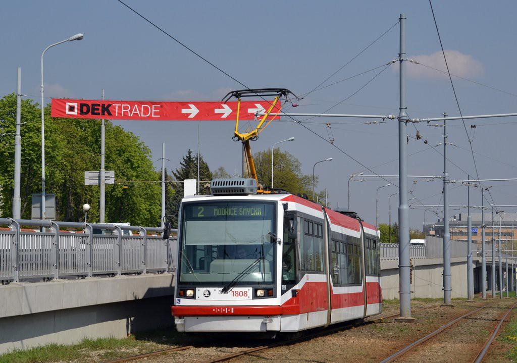 Fotogalerie » Škoda 03T6 1808   Brno   Dolní Heršpice   Vídeňská