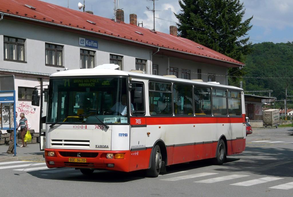 Fotogalerie » Karosa B931E.1707 BSE 94-70 7455 | Kuřim | Nádražní | Kuřim, železniční stanice