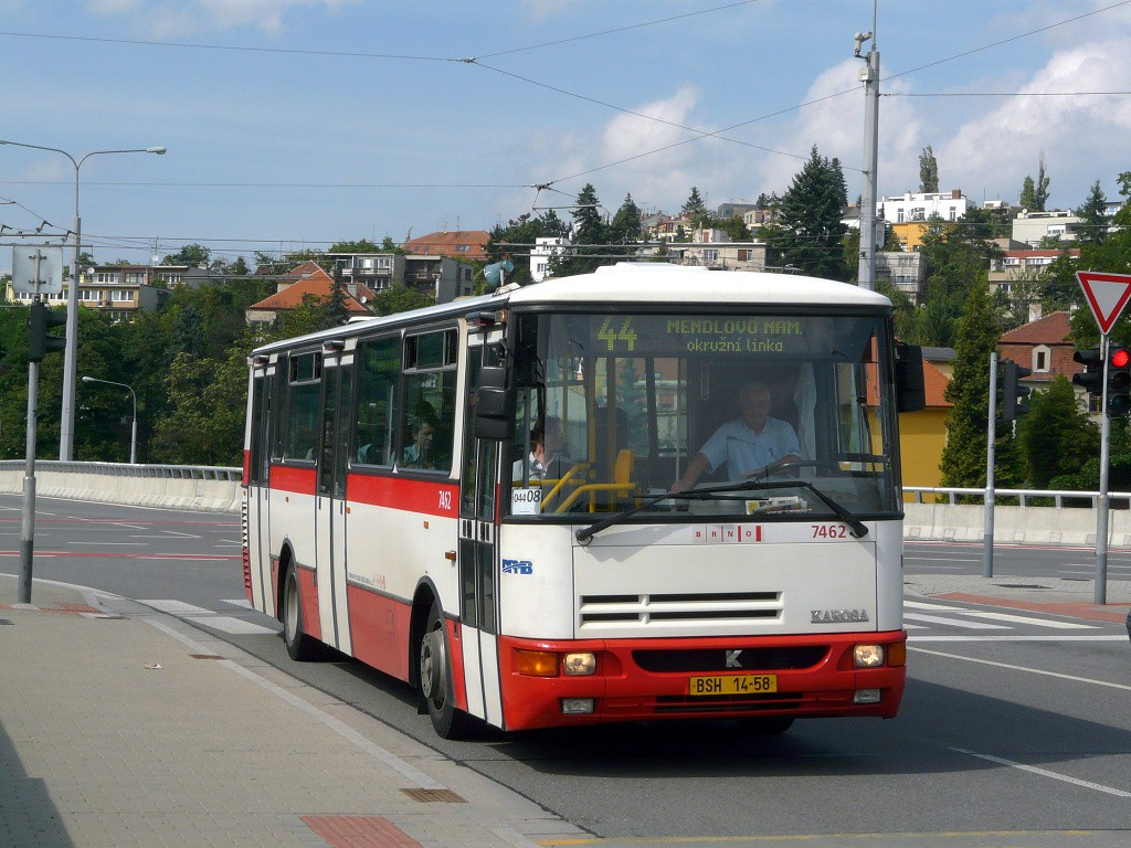 Fotogalerie » Karosa B931E.1707 BSH 14-58 7462 | Brno | Pisárky | Bauerova