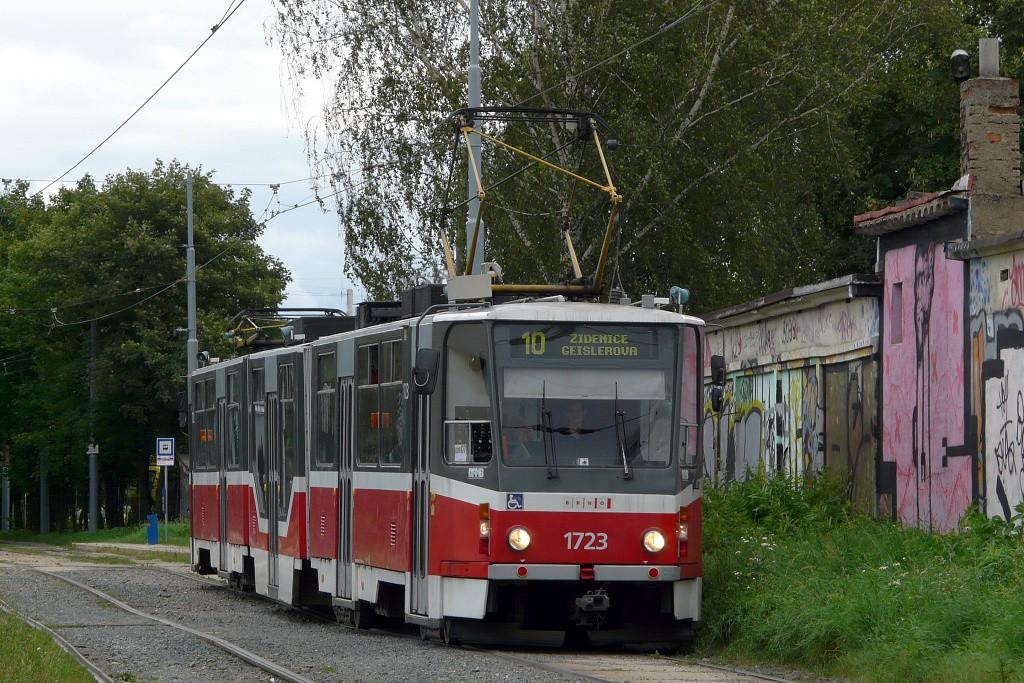 Fotogalerie » ČKD Tatra KT8D5R.N2 1723 | Brno | Židenice | Židovský hřbitov