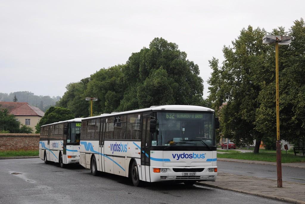 Fotogalerie » Karosa C954E.1360 2B9 0328   Bučovice   Nádražní   Autobusové nádraží