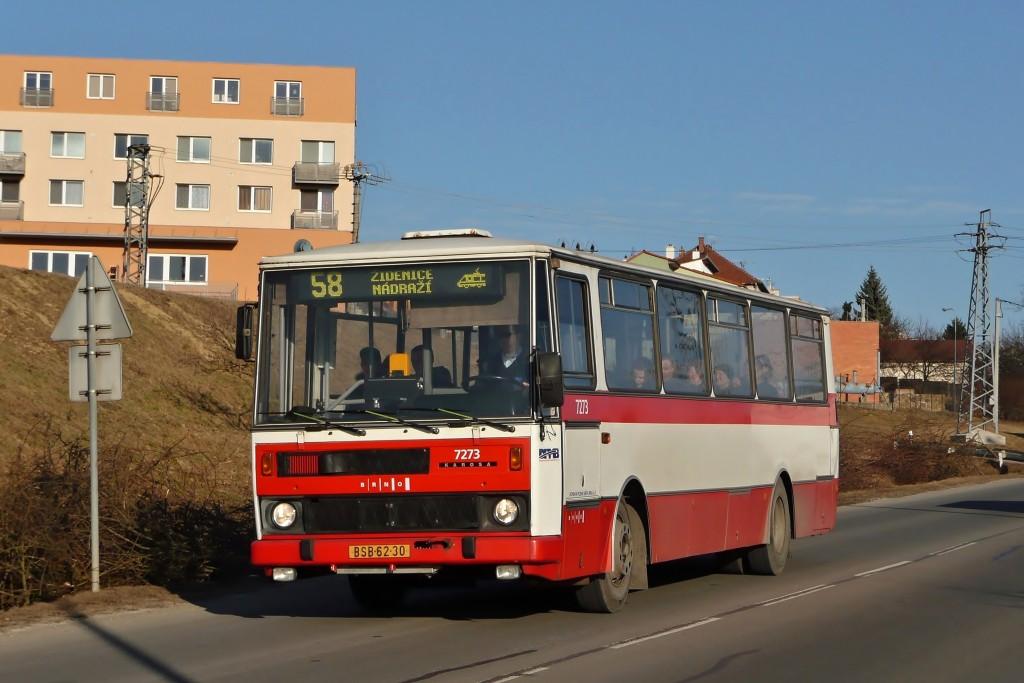 Fotogalerie » Karosa B732.40 BSB 62-30 7273 | Brno | Líšeň | Trnkova | Zaoralova