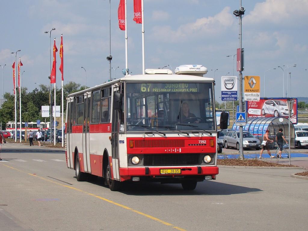 Fotogalerie » Karosa B732.1654.3 BSC 38-95 7392 | Brno | Dolní Heršpice | Skandinávská
