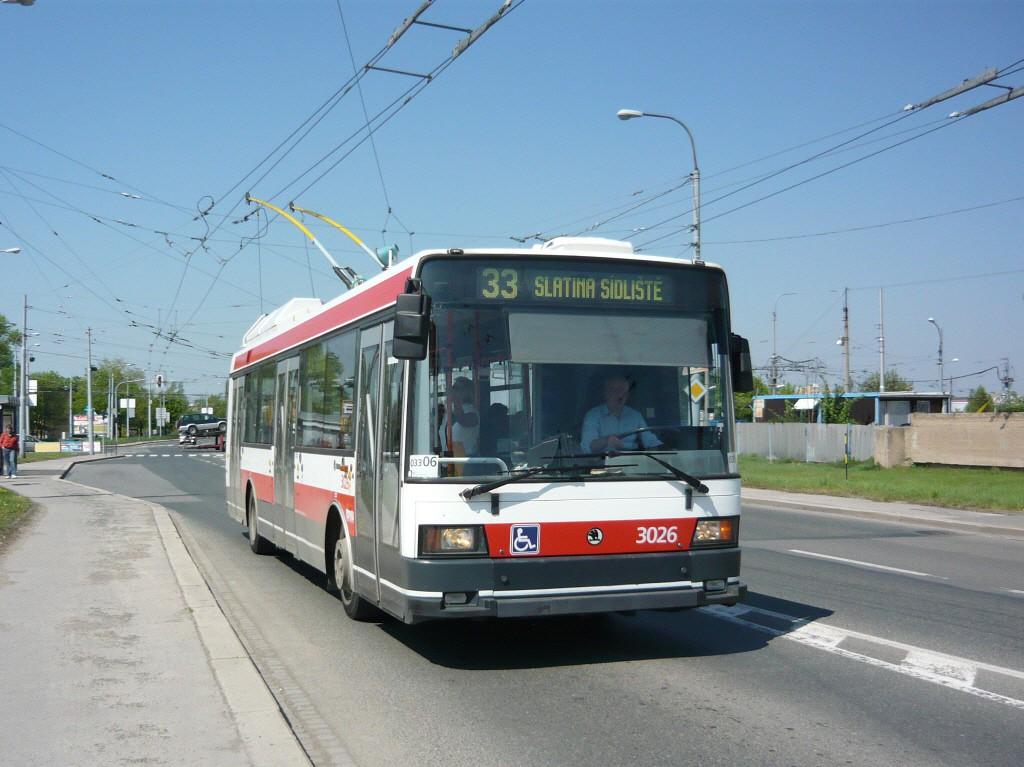 Fotogalerie » Škoda 21Tr 3026 | Brno | Slatina | Hviezdoslavova | Černovičky
