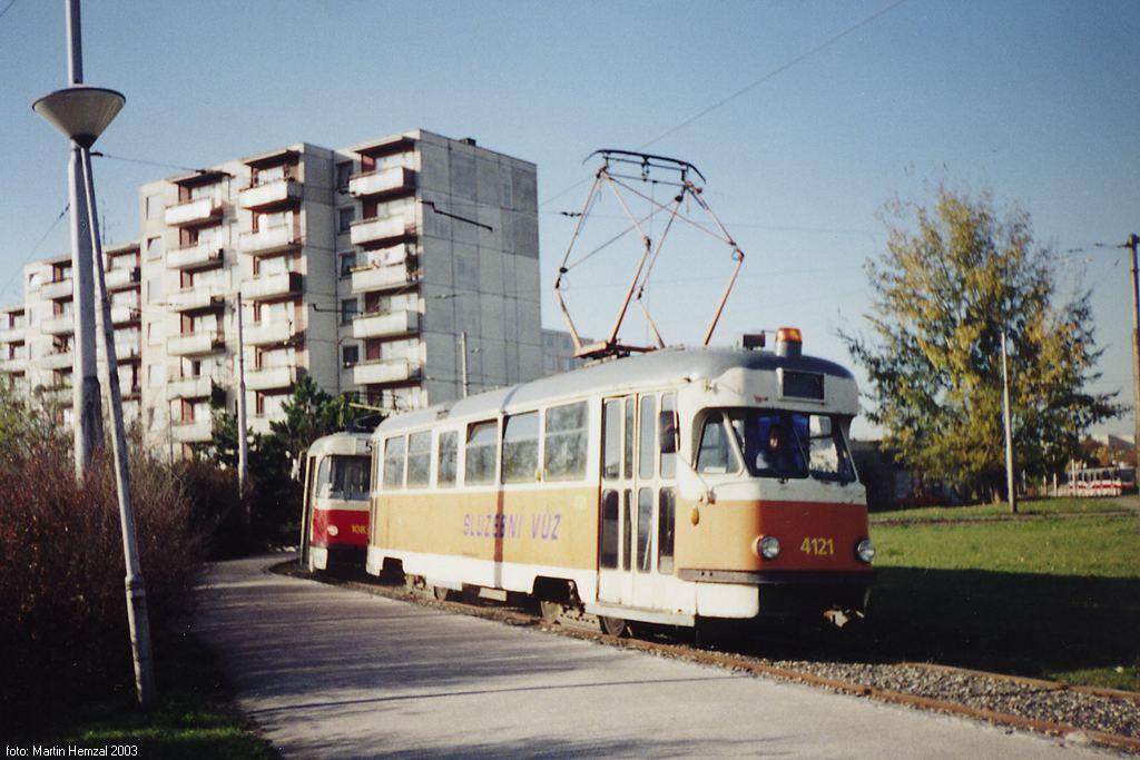 Fotogalerie » Tatra T2 služební 4121 | Brno | Bohunice | Švermova, smyčka