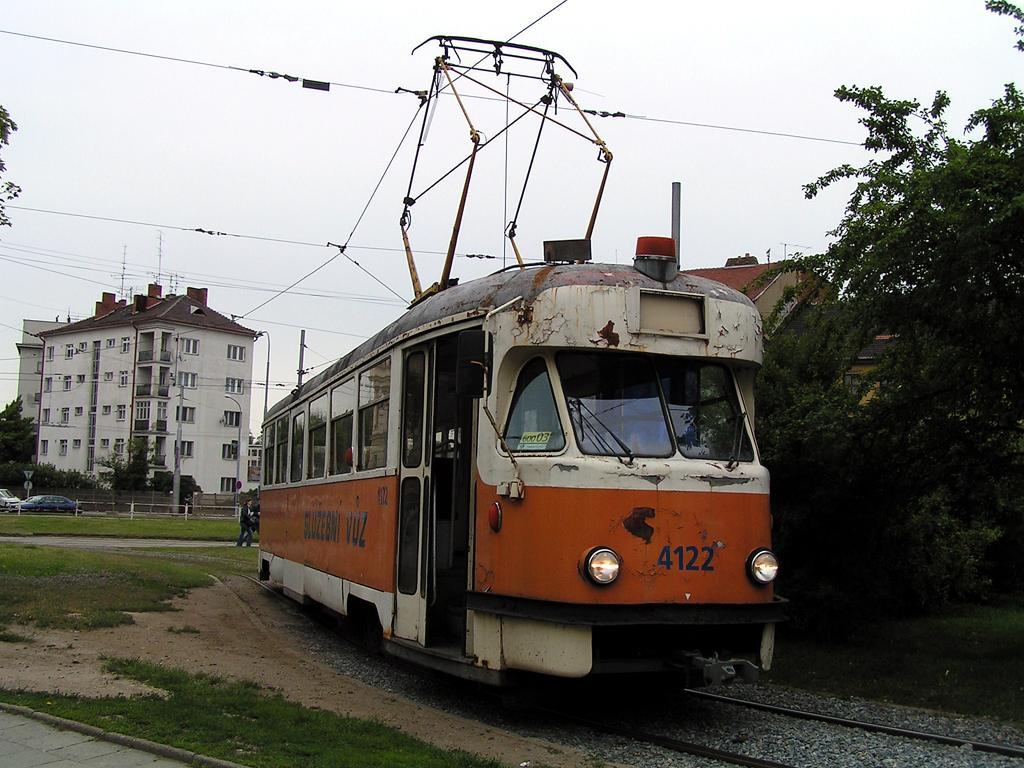Fotogalerie » Tatra T2 služební 4122 | Brno | Staré Brno | Mendlovo náměstí | Mendlovo náměstí, smyčka