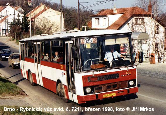 Fotogalerie » Karosa B732.20 7211 | Brno | Nový Lískovec | Rybnická