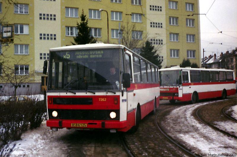 Fotogalerie » Karosa B732.20 7262 | Brno | Štefánikova čtvrť | Štefánikova čtvrť, smyčka