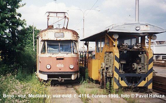 Fotogalerie » Tatra T2 služební 4116 | Brno | vozovna Medlánky