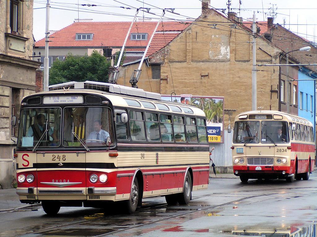 Fotogalerie » Škoda T11/0 248 | Karosa ŠM11.1630 2834 | Brno | Husovice | Vranovská