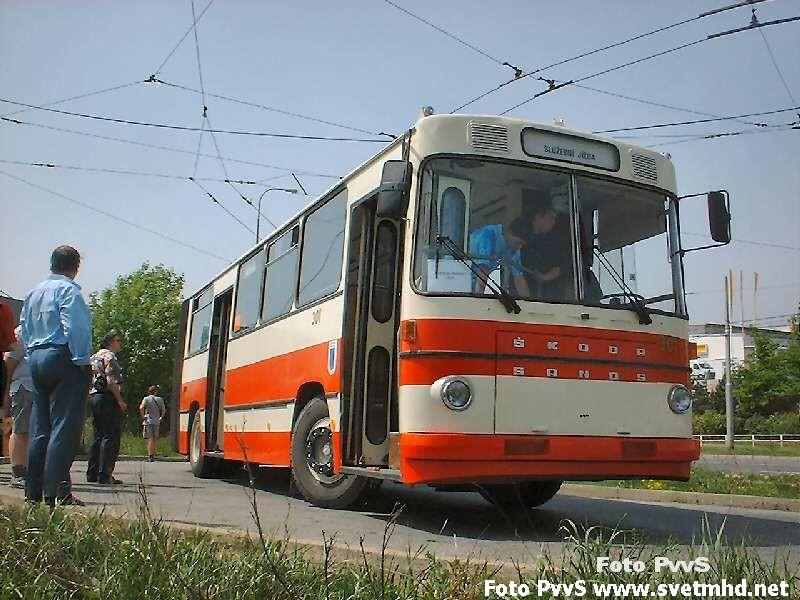 Fotogalerie » Škoda Škoda Sanos 200Tr 301 | Brno | Líšeň | Novolíšeňská | Novolíšeňská, smyčka