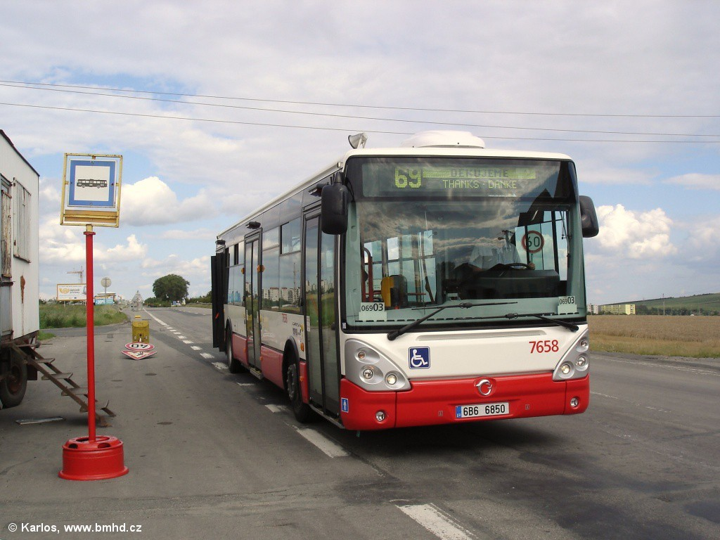 Fotogalerie » Irisbus Citelis 12M 6B6 6850 7658 | Brno | Bosonohy | Pražská | Skalní