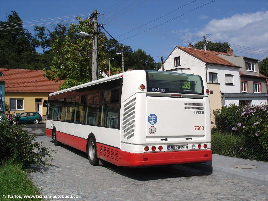Fotogalerie » Irisbus Citelis 12M 6B6 6845 7663 | Brno | Bosonohy | U smyčky | Bosonohy