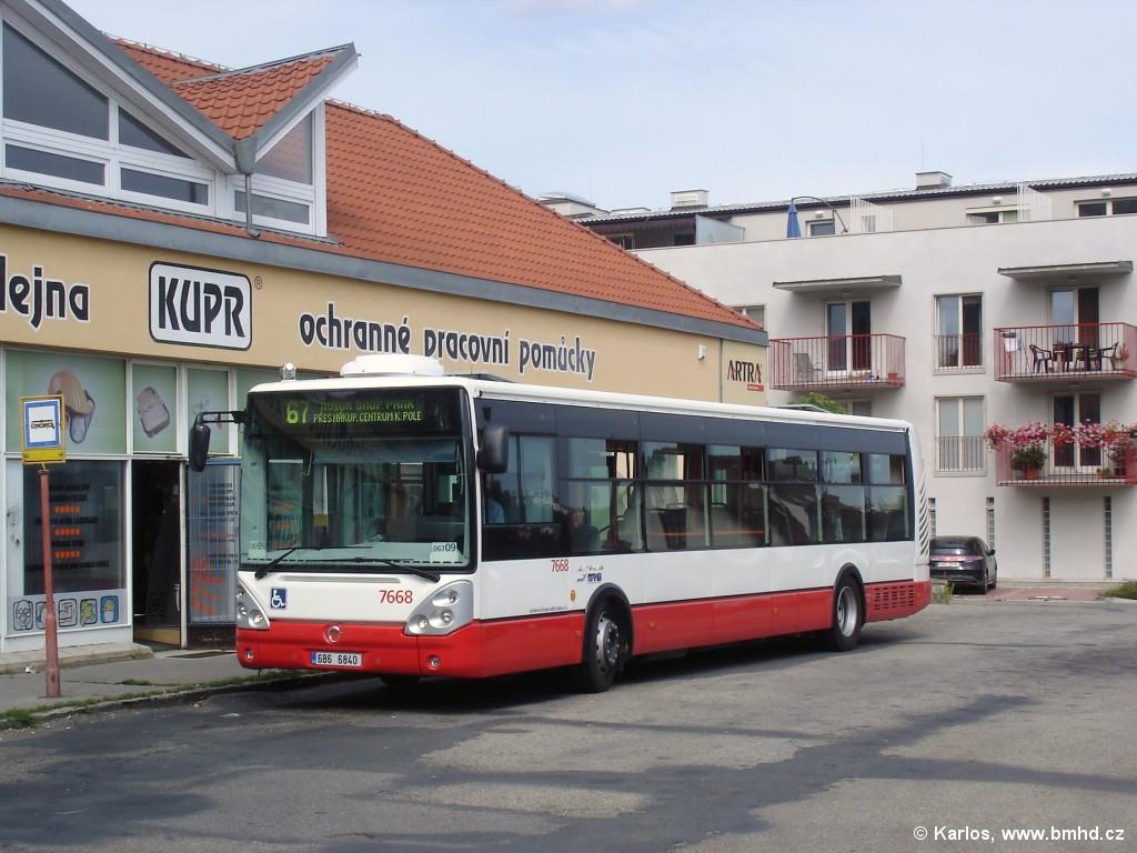 Fotogalerie » Irisbus Citelis 12M 6B6 6840 7668 | Brno | Jundrov | Lelkova | Jundrov
