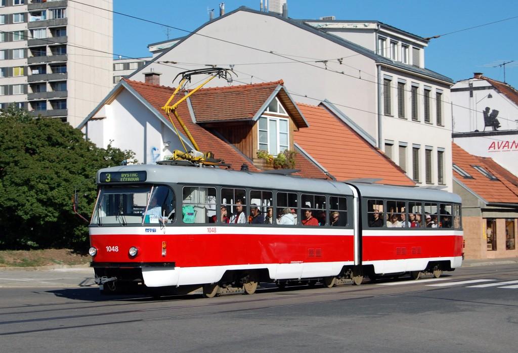 Fotogalerie » ČKD Tatra K2P 1048 | Brno | Žabovřesky | Rosického náměstí