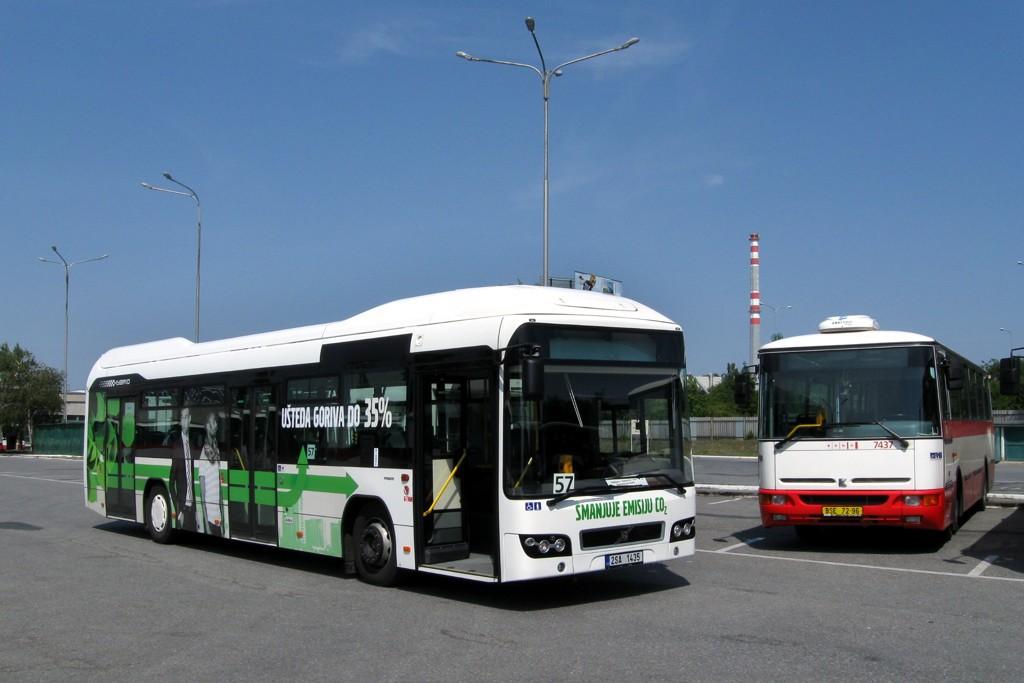 Fotogalerie » Volvo 7700LH 2SA 1435 2714 | Brno | Slatina | Hviezdoslavova | Vozovna Slatina