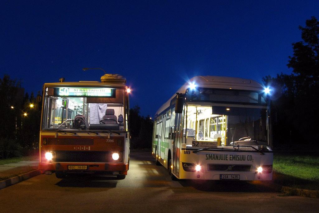 Fotogalerie » Volvo 7700LH 2SA 1435 2714 | Karosa B732.1654.3 BSC 38-99 7396 | Brno | Bystrc | Přístavní | Přístaviště, smyčka