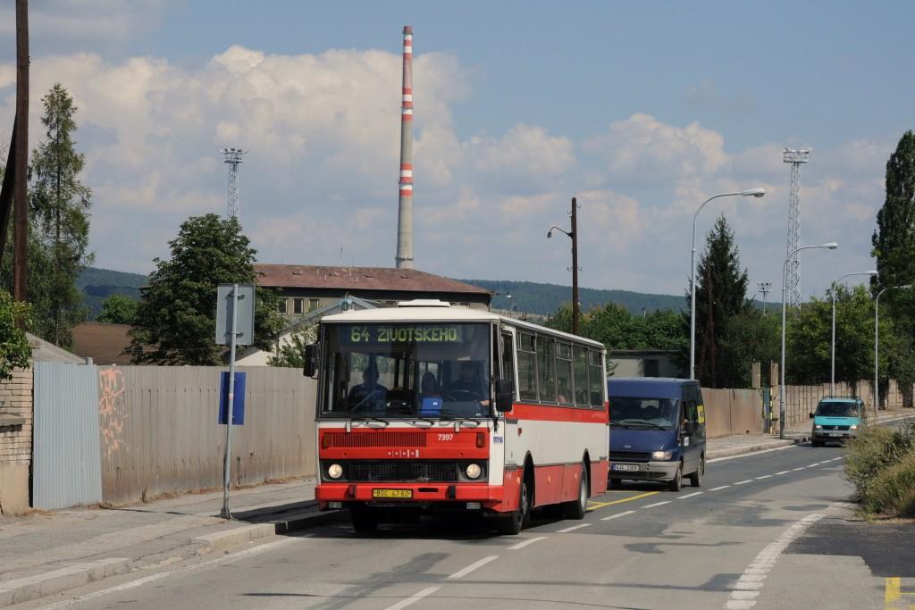 Fotogalerie » Karosa B732.1654.3 BSC 47-62 7397   Brno   Maloměřice   Kulkova   Podsednická