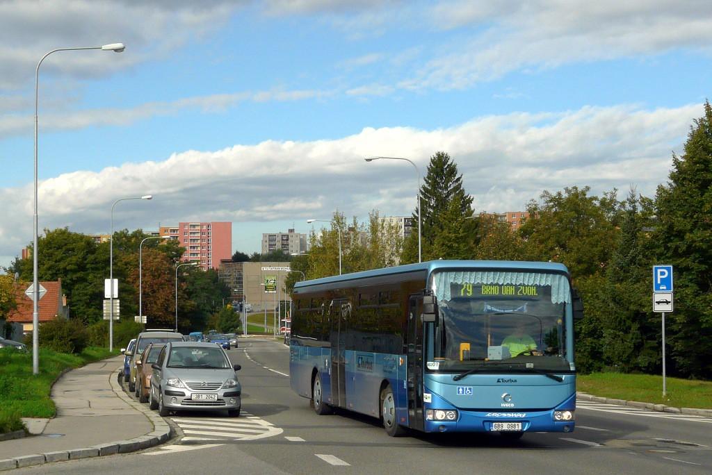 Fotogalerie » Irisbus Crossway LE 12M 6B9 0981 | Brno | Bohunice | Dlouhá