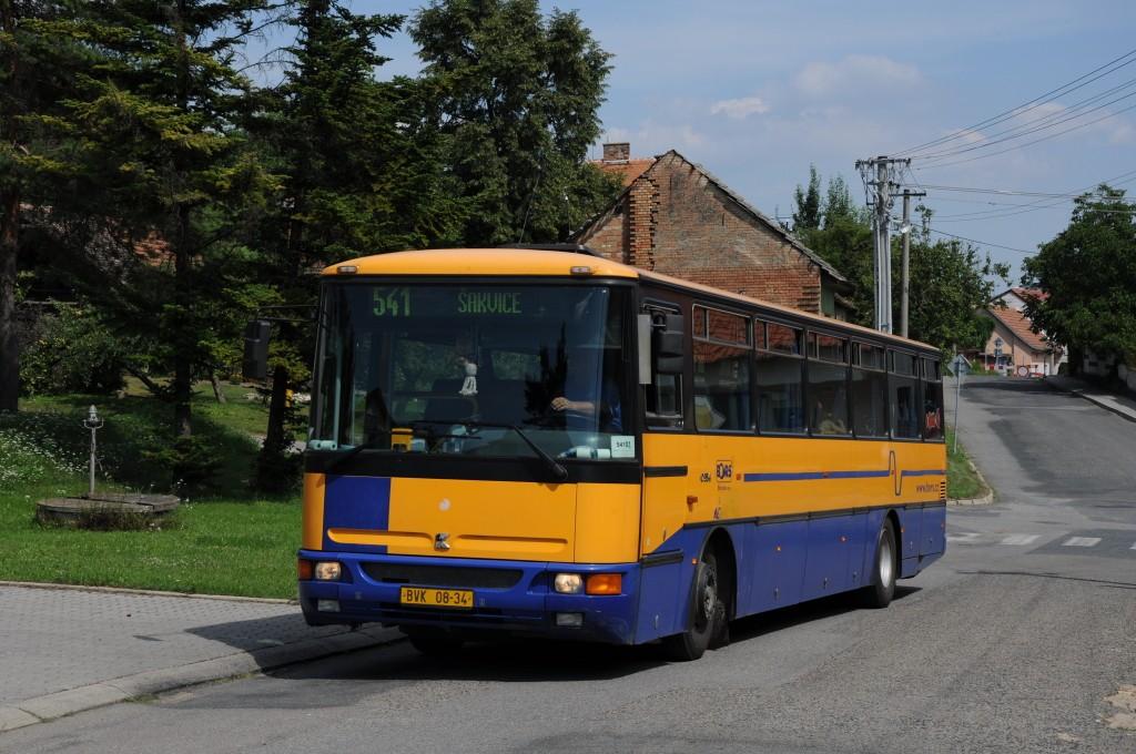 Fotogalerie » Karosa C954.1360 BVK 08-34 | Klobouky u Brna | Vinařská | Klobouky u Brna, škola