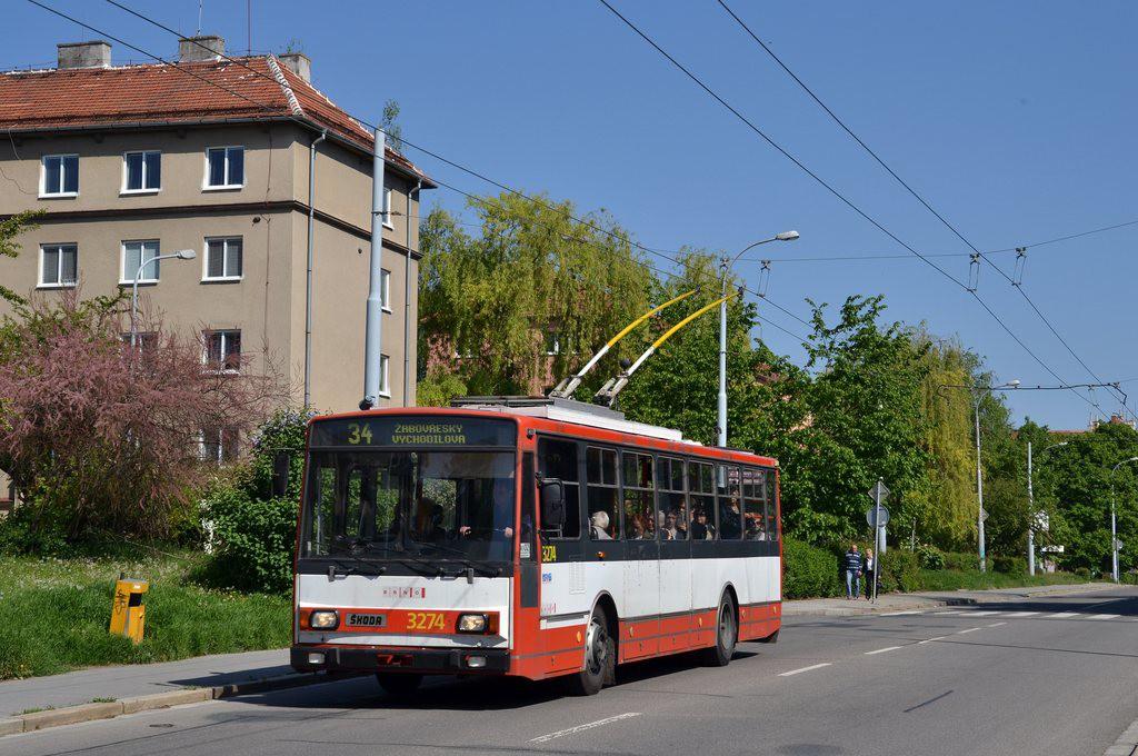 Fotogalerie » Škoda 14Tr17/6M 3274 | Brno | Žabovřesky | Zborovská